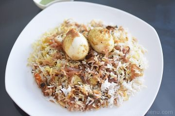 Spiceless Egg Dum Biryani