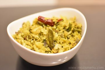 Cabbage Egg Poriyal