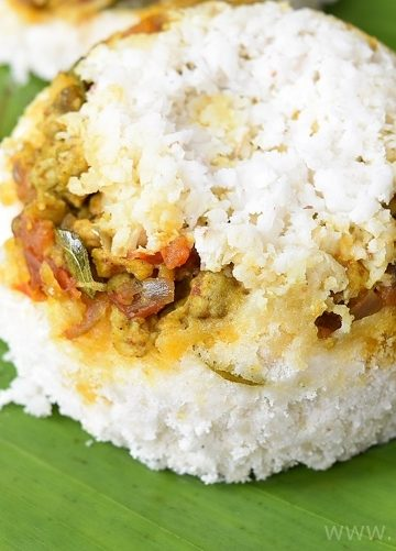 Kerala Mutta / Egg Puttu / Egg Steamed Rice Cake