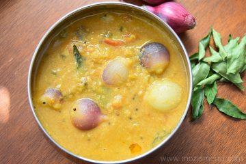 Vengaya Sambar / Pearl Onion Sambar / Shallots Sambar