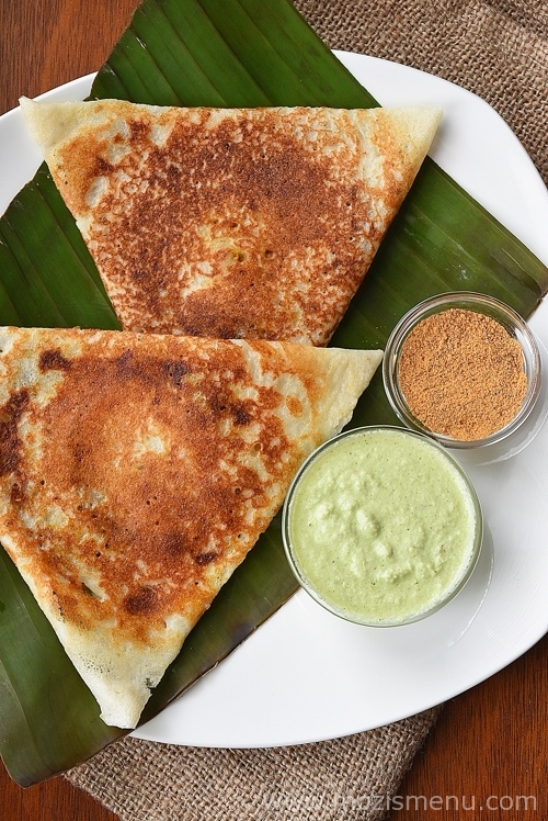 Chicken Masala Dosa / Pancake / Crepe