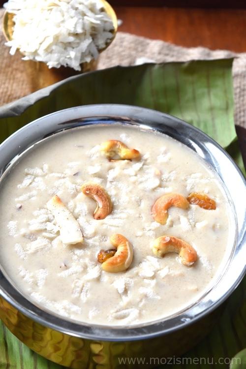 Aval (Poha / Rice flakes) Payasam / Pradhaman / Kheer