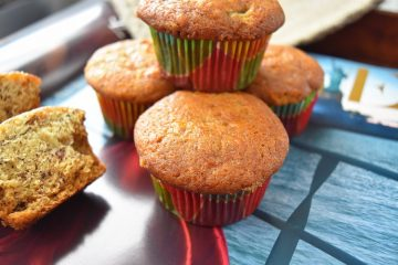 Eggless Banana Muffins For Breakfast