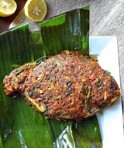 Kerala Meen Pollichathu / Fried Fish in Banana Leaf Wrap