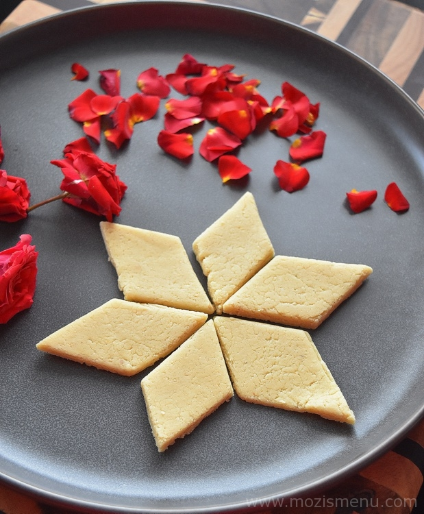 Kaju Katli / Kaju Barfi / Cashew Slice