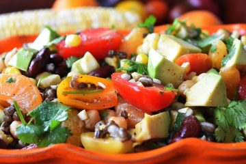 Tri-Beans, Fruit & Corn Salad / Homemade Bean Salad